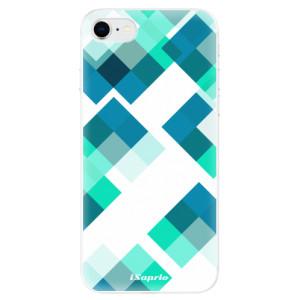 Odolné silikonové pouzdro iSaprio - Abstract Squares 11 na mobil Apple iPhone SE 2020