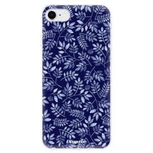 Odolné silikonové pouzdro iSaprio - Blue Leaves 05 na mobil Apple iPhone SE 2020