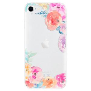 Odolné silikonové pouzdro iSaprio - Flower Brush na mobil Apple iPhone SE 2020