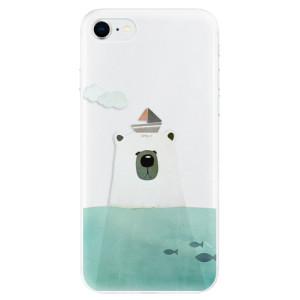 Odolné silikonové pouzdro iSaprio - Bear With Boat na mobil Apple iPhone SE 2020