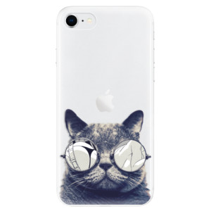 Odolné silikonové pouzdro iSaprio - Crazy Cat 01 na mobil Apple iPhone SE 2020 - poslední kousek za tuto cenu