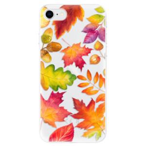 Odolné silikonové pouzdro iSaprio - Autumn Leaves 01 na mobil Apple iPhone SE 2020