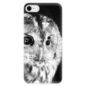Odolné silikonové pouzdro iSaprio - BW Owl na mobil Apple iPhone SE 2020