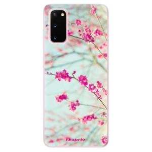 Odolné silikonové pouzdro iSaprio - Blossom 01 na mobil Samsung Galaxy S20