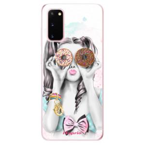 Odolné silikonové pouzdro iSaprio - Donuts 10 na mobil Samsung Galaxy S20