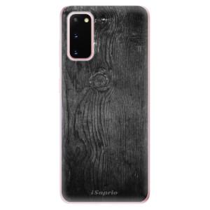 Odolné silikonové pouzdro iSaprio - Black Wood 13 na mobil Samsung Galaxy S20