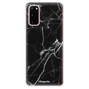 Odolné silikonové pouzdro iSaprio - Black Marble 18 na mobil Samsung Galaxy S20