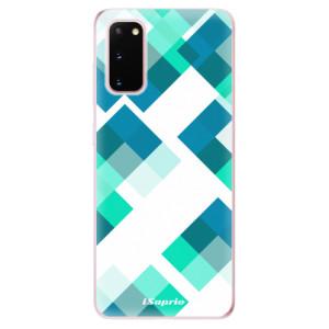 Odolné silikonové pouzdro iSaprio - Abstract Squares 11 na mobil Samsung Galaxy S20