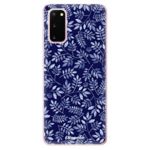 Odolné silikonové pouzdro iSaprio - Blue Leaves 05 na mobil Samsung Galaxy S20