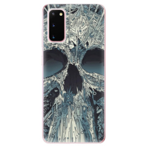 Odolné silikonové pouzdro iSaprio - Abstract Skull na mobil Samsung Galaxy S20
