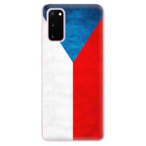 Odolné silikonové pouzdro iSaprio - Czech Flag na mobil Samsung Galaxy S20