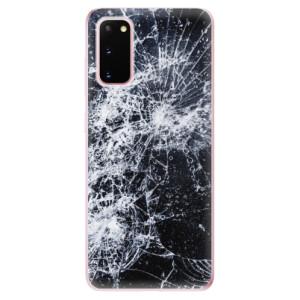 Odolné silikonové pouzdro iSaprio - Cracked na mobil Samsung Galaxy S20