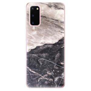 Odolné silikonové pouzdro iSaprio - BW Marble na mobil Samsung Galaxy S20