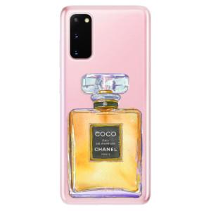 Odolné silikonové pouzdro iSaprio - Chanel Gold na mobil Samsung Galaxy S20
