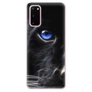 Odolné silikonové pouzdro iSaprio - Black Puma na mobil Samsung Galaxy S20