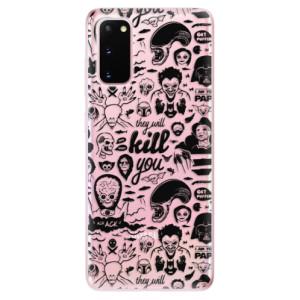 Odolné silikonové pouzdro iSaprio - Comics 01 - black na mobil Samsung Galaxy S20
