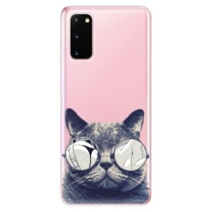 Odolné silikonové pouzdro iSaprio - Crazy Cat 01 na mobil Samsung Galaxy S20