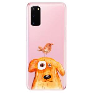 Odolné silikonové pouzdro iSaprio - Dog And Bird na mobil Samsung Galaxy S20