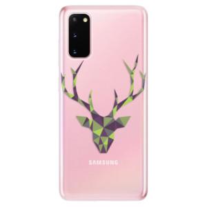 Odolné silikonové pouzdro iSaprio - Deer Green na mobil Samsung Galaxy S20