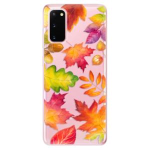 Odolné silikonové pouzdro iSaprio - Autumn Leaves 01 na mobil Samsung Galaxy S20