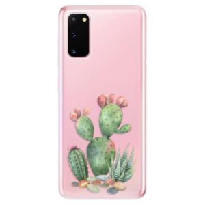 Odolné silikonové pouzdro iSaprio - Cacti 01 na mobil Samsung Galaxy S20