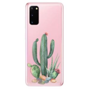Odolné silikonové pouzdro iSaprio - Cacti 02 na mobil Samsung Galaxy S20
