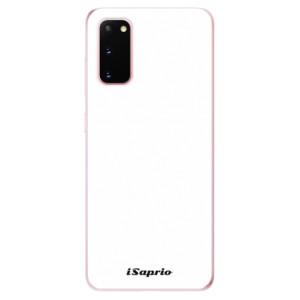 Odolné silikonové pouzdro iSaprio - 4Pure - bílé na mobil Samsung Galaxy S20