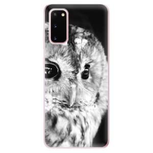 Odolné silikonové pouzdro iSaprio - BW Owl na mobil Samsung Galaxy S20