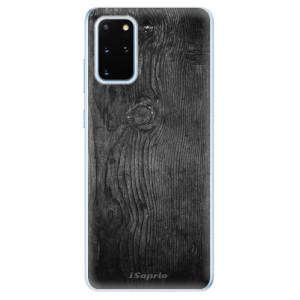 Odolné silikonové pouzdro iSaprio - Black Wood 13 na mobil Samsung Galaxy S20 Plus