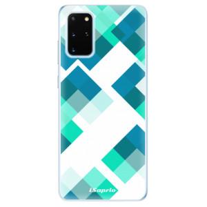Odolné silikonové pouzdro iSaprio - Abstract Squares 11 na mobil Samsung Galaxy S20 Plus