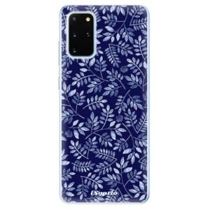 Odolné silikonové pouzdro iSaprio - Blue Leaves 05 na mobil Samsung Galaxy S20 Plus