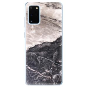 Odolné silikonové pouzdro iSaprio - BW Marble na mobil Samsung Galaxy S20 Plus