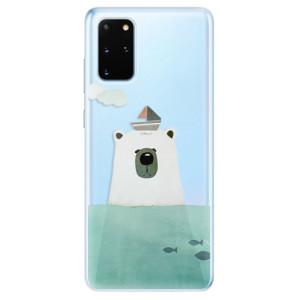Odolné silikonové pouzdro iSaprio - Bear With Boat na mobil Samsung Galaxy S20 Plus