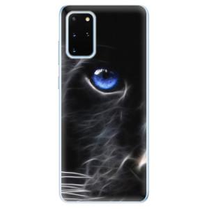 Odolné silikonové pouzdro iSaprio - Black Puma na mobil Samsung Galaxy S20 Plus