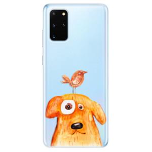 Odolné silikonové pouzdro iSaprio - Dog And Bird na mobil Samsung Galaxy S20 Plus