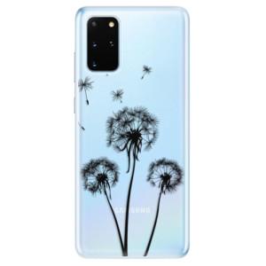 Odolné silikonové pouzdro iSaprio - Three Dandelions - black na mobil Samsung Galaxy S20 Plus