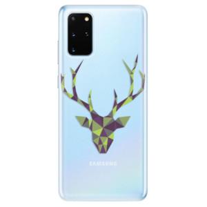 Odolné silikonové pouzdro iSaprio - Deer Green na mobil Samsung Galaxy S20 Plus