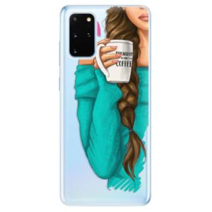 Odolné silikonové pouzdro iSaprio - My Coffe and Brunette Girl na mobil Samsung Galaxy S20 Plus