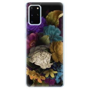 Odolné silikonové pouzdro iSaprio - Dark Flowers na mobil Samsung Galaxy S20 Plus