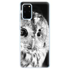 Odolné silikonové pouzdro iSaprio - BW Owl na mobil Samsung Galaxy S20 Plus