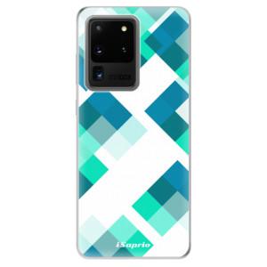 Odolné silikonové pouzdro iSaprio - Abstract Squares 11 na mobil Samsung Galaxy S20 Ultra