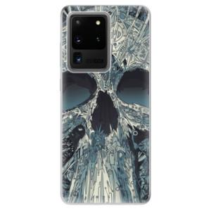 Odolné silikonové pouzdro iSaprio - Abstract Skull na mobil Samsung Galaxy S20 Ultra