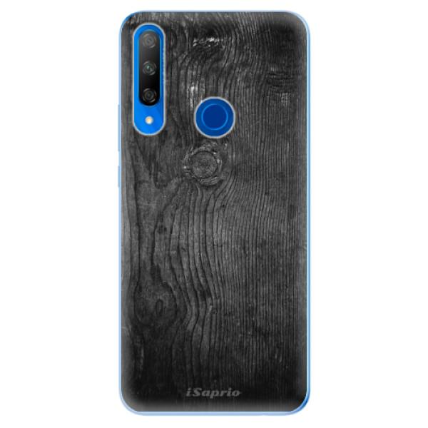 Odolné silikonové pouzdro iSaprio - Black Wood 13 - Huawei Honor 9X