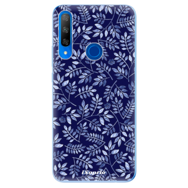Odolné silikonové pouzdro iSaprio - Blue Leaves 05 - Huawei Honor 9X
