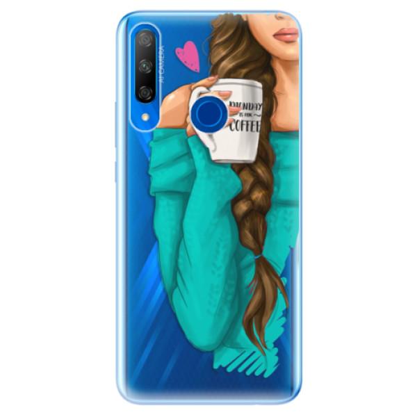 Odolné silikonové pouzdro iSaprio - My Coffe and Brunette Girl - Huawei Honor 9X
