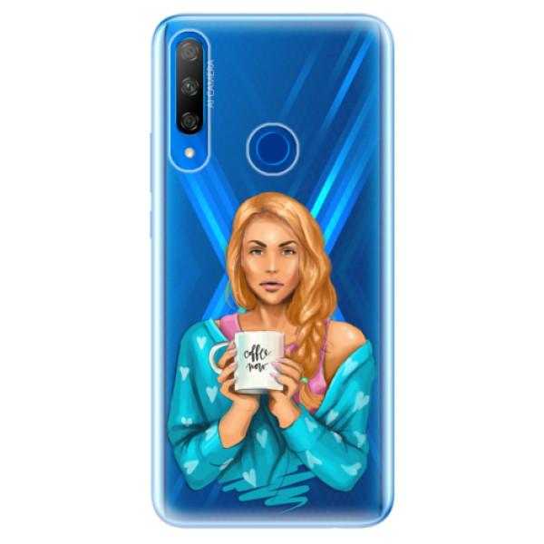 Odolné silikonové pouzdro iSaprio - Coffe Now - Redhead - Huawei Honor 9X