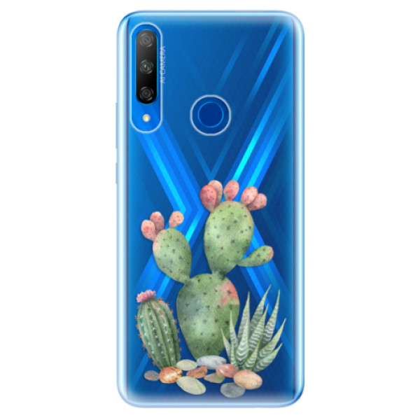 Odolné silikonové pouzdro iSaprio - Cacti 01 - Huawei Honor 9X