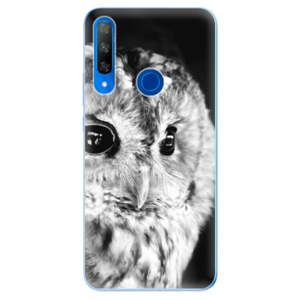 Odolné silikonové pouzdro iSaprio - BW Owl - Huawei Honor 9X