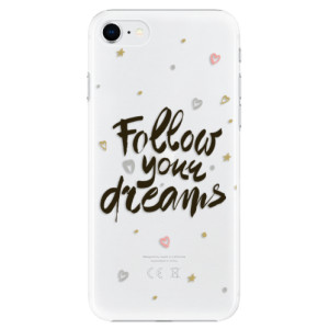 Plastové pouzdro iSaprio - Follow Your Dreams - black na mobil Apple iPhone SE 2020