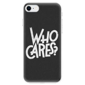 Plastové pouzdro iSaprio - Who Cares na mobil Apple iPhone SE 2020